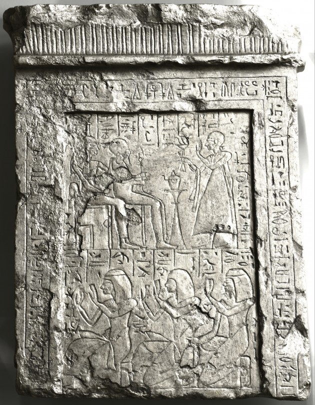 Specular enhancement using RTI of Egyptian Stele OIM E14655