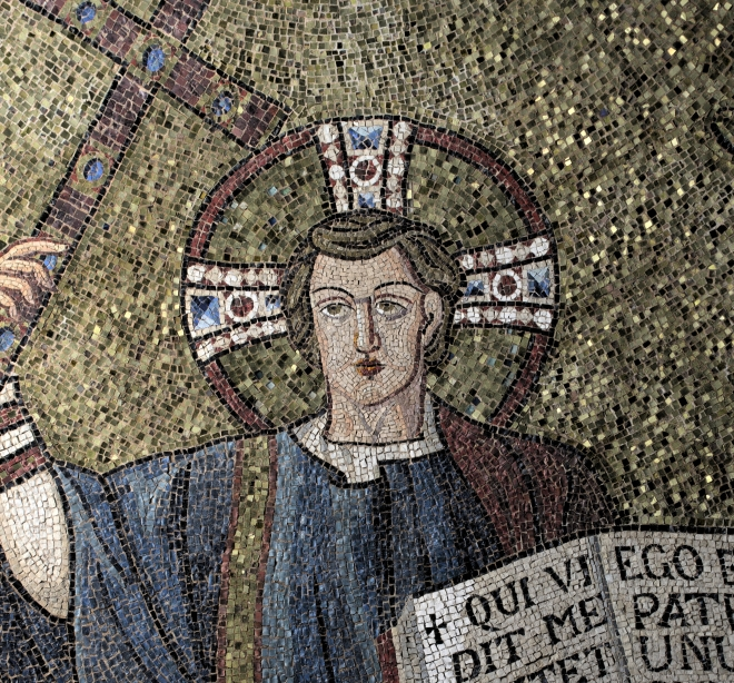Figure 2: RTI image of the head of Christ in a detail from the mosaic.