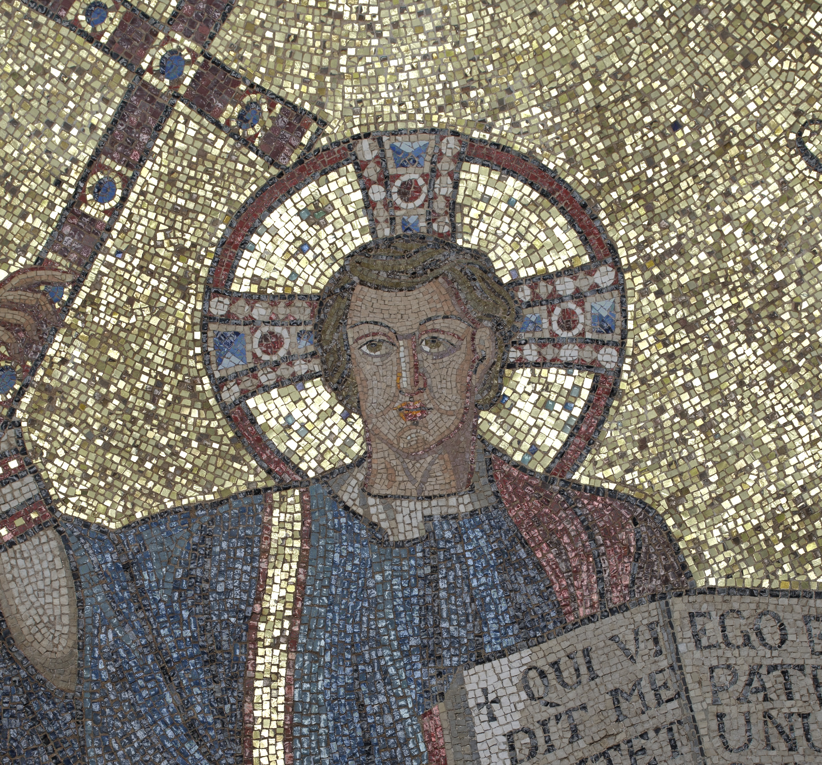 Figure 3: Same detail of the mosaic with light from a different direction.
