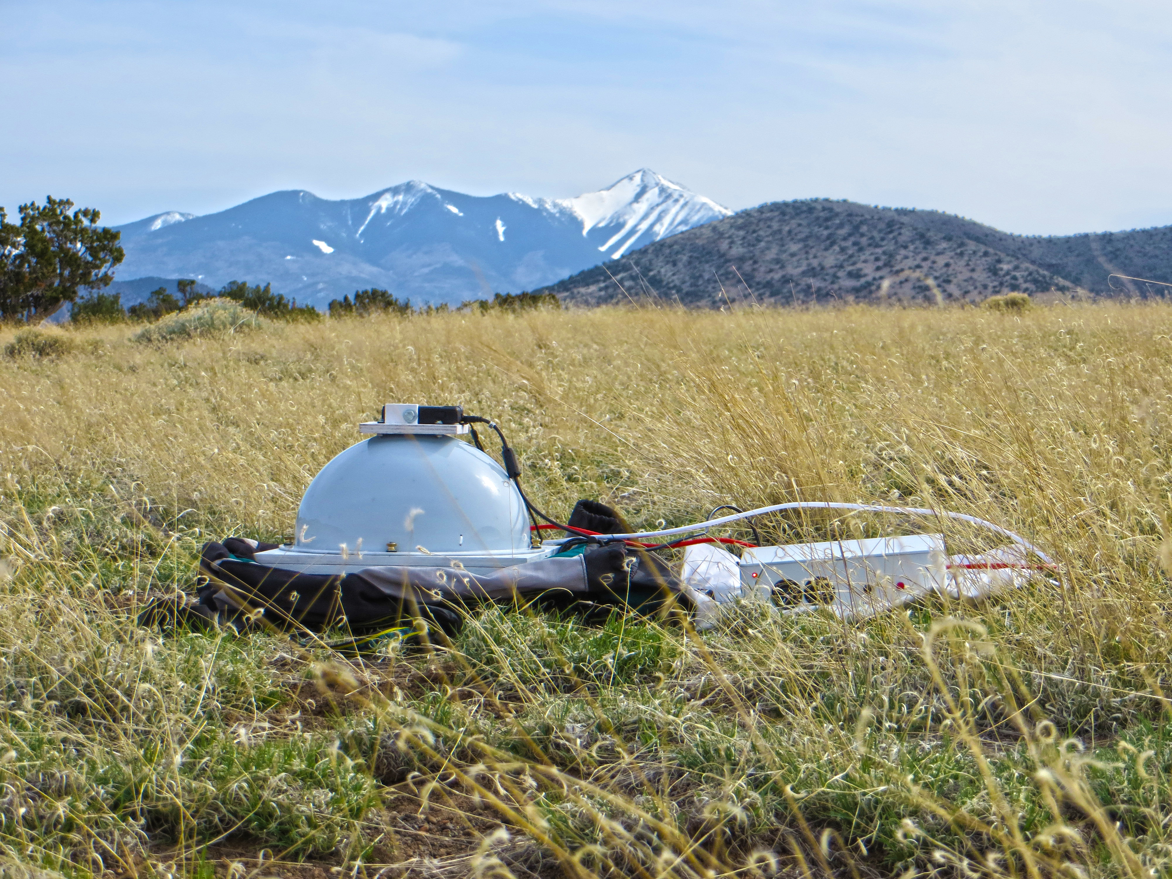 "Portable RTI Dome ""in the field"", north of San Francisco Peaks, Flagstaff, Arizona"