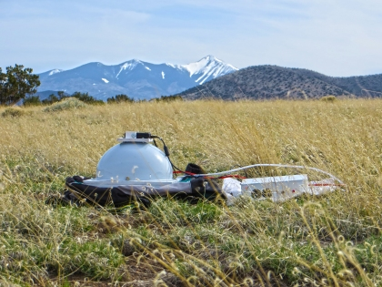 "Portable RTI Dome ""in the field"", north of San Francisco Peaks, Flagstaff, Arizona"
